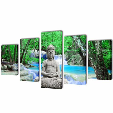 Wall Canvas 5-Panel Set -  Buddha