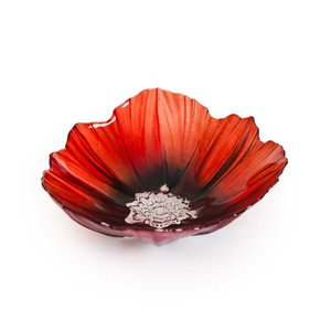 Mats Jonasson Crystal Tableware - Poppy Bowl  (56100)