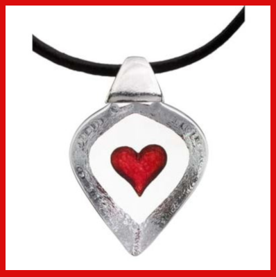 Gifts Actually - Mats Jonasson Crystal - Red Heart Pendant (84115)