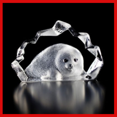 Gifts Actually - Mats Jonasson Crystal - Baby Seal (88100)