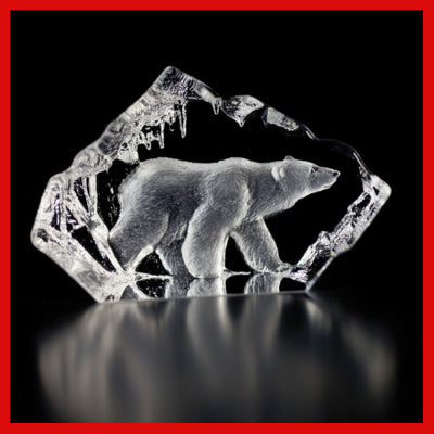 Gifts Actually - Mats Jonasson Crystal - Polar Bear (88118)