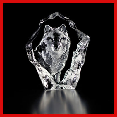 Gifts Actually - Mats Jonasson Crystal - Wolf (88128)
