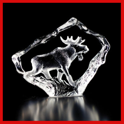 Gifts Actually - Mats Jonasson Crystal - Moose (88130)