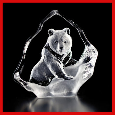 Gifts Actually - Mats Jonasson Crystal - Grizzly Bear (88131)