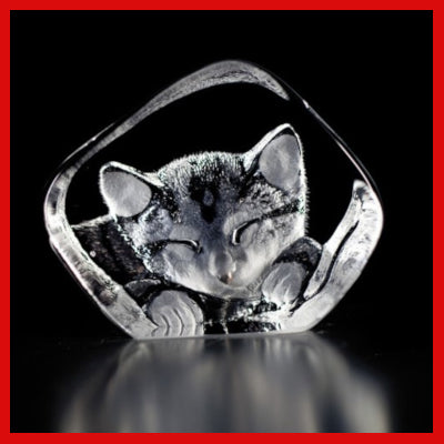 Gifts Actually - Mats Jonasson Crystal - Kitten (88143)
