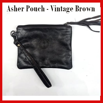 Gifts Actually - Indepal- Asher Pouch Mid - Antique Brown