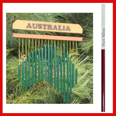 Gifts Actually - Harmony Wind chime - Australia Chime - Port Wine