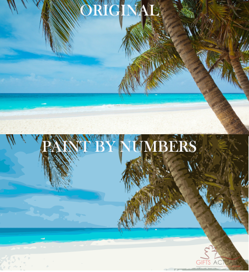 Gifts Actually - Custom / Photo Paint by numbers -  Beach Scene