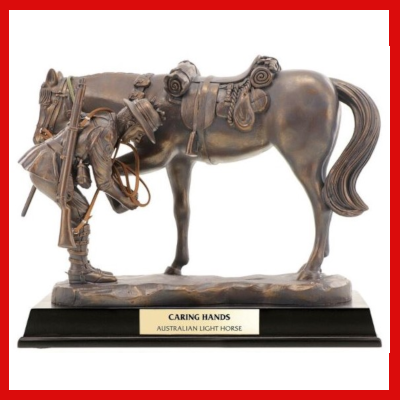 Gifts Actually - Caring Hands - Australian Light Horse Figurine