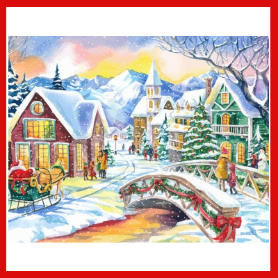 Gifts Actually - Paint By Numbers - (DIY Paint kit) - Christmas Scene