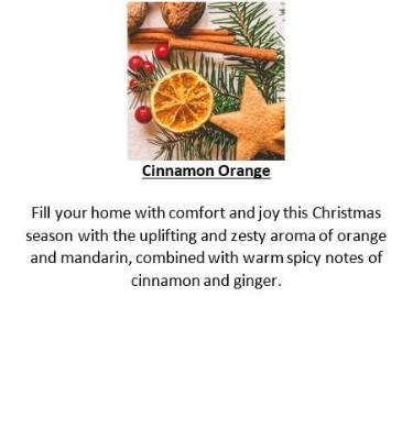 Gifts Actually - Yuletide Gift Box (Black) - Soy Wax Candles - Cinnamon Orange