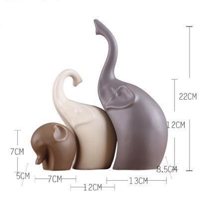 Gifts Actually -Ceramic Elephant Family