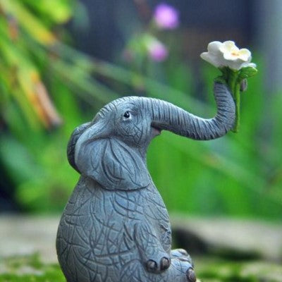 Gifts Actually - Barber the Elephant with Flowers