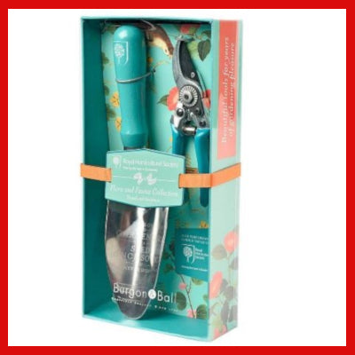 Gifts Actually - Burgon & Ball - Flora & Fauna Gift Boxed Trowel and Secateurs