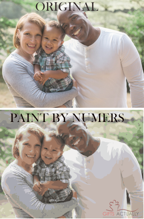 Gifts Actually - Custom / Photo Paint by numbers - Family