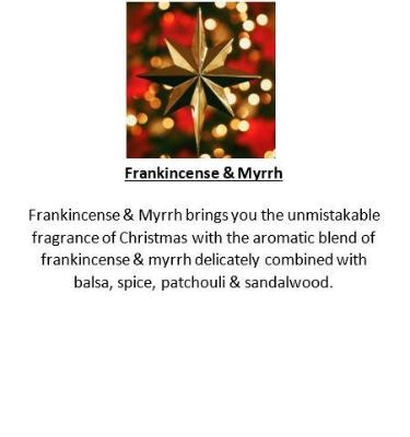 Gifts Actually - Yuletide Gift Box (Black) - Soy Wax Candles - Frankincense & Myrrh