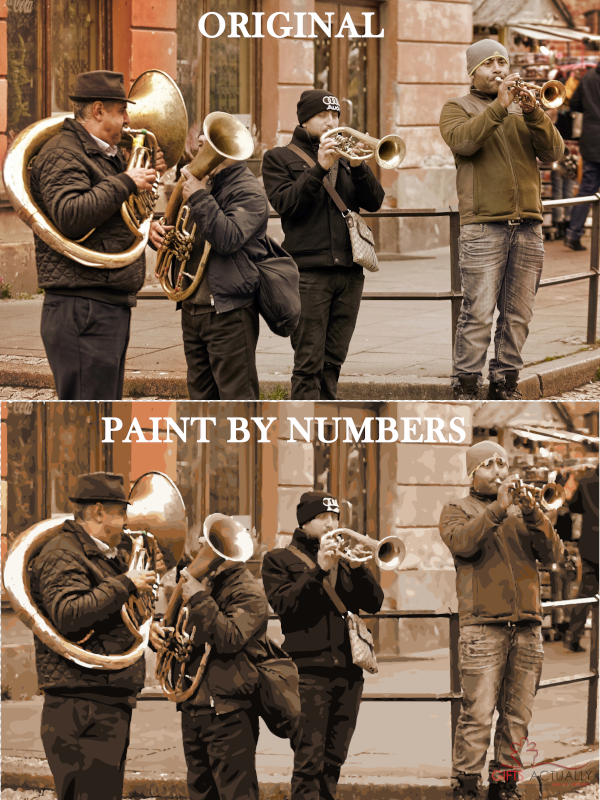 Gifts Actually - Custom / Photo Paint by numbers -  Music Group / Band