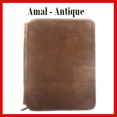 Gifts Actually - Indepal- Amal Leather Business Compendium - Antique