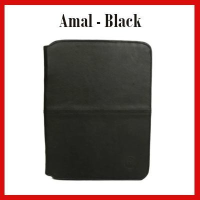 Gifts Actually - Indepal- Amal Leather Business Compendium - Black