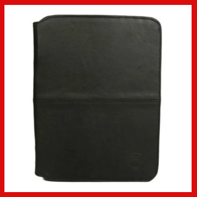Gifts Actually - Indepal- Amal Leather Business Compendium - Black front