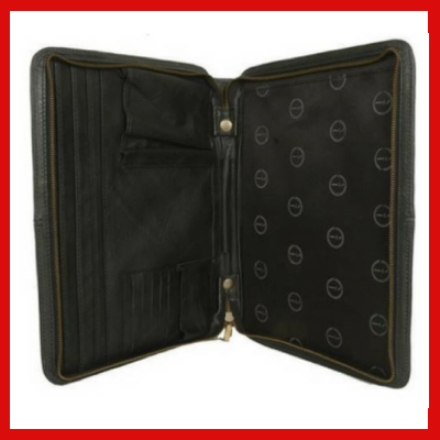 Gifts Actually - Indepal- Amal Leather Business Compendium - Black Open