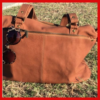 Gifts Actually - Indepal- Malala Leather Handbag - Dusty Antique in grass