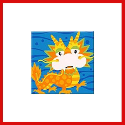Gifts Actually - Paint By Numbers - Chinese Dragon (Kids DIY Paint kit)