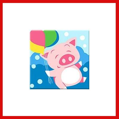 Gifts Actually - Paint By Numbers -  Pig (Kids DIY Paint kit)