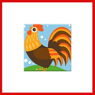 Gifts Actually - Paint By Numbers - Rooster (Kids DIY Paint kit)