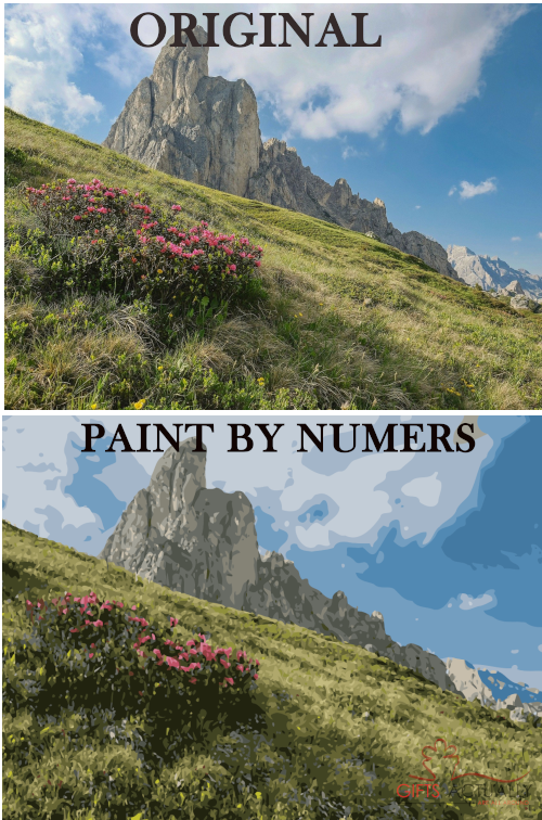 Gifts Actually - Custom / Photo Paint by numbers -  Landscape