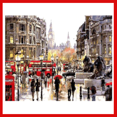 Gifts Actually - Paint By Numbers (DIY Paint kit) - London