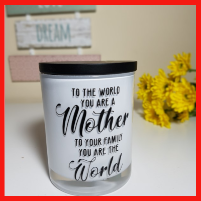 Gifts Actually - Soy Wax Candle - Amber Grove - To the World you're a mum,,,