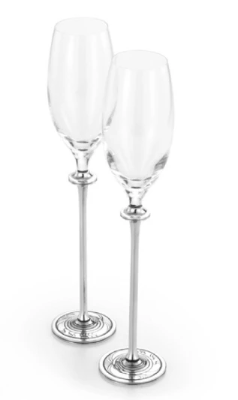 Gifts Actually - Marine Champagne Flute (Pair) - Royal Selangor Pewter