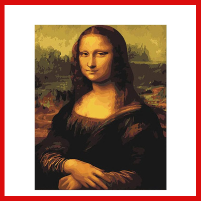 Gifts Actually - Paint By Numbers - The Mona Lisa (DIY Paint kit)