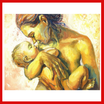 Gifts Actually - Paint By Numbers - Mother and Child (DIY Paint kit)