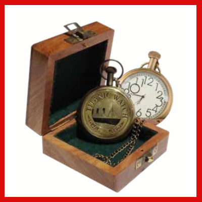 Gifts Actually - Pocket Watch - RMS Titanic (Brass finish)