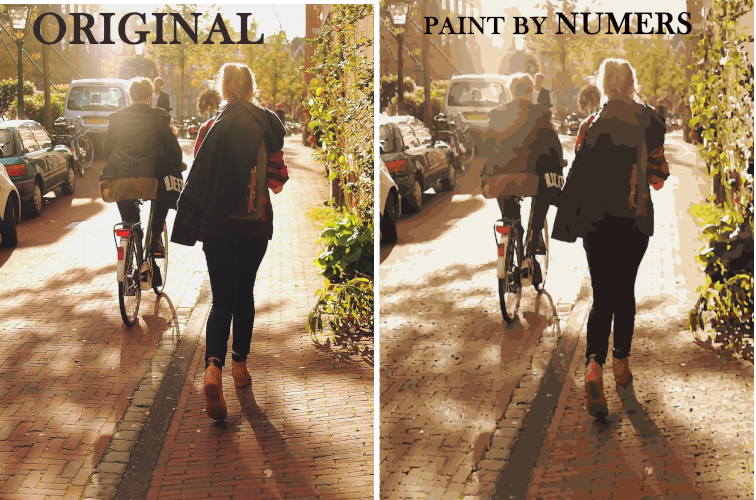 Gifts Actually - Custom / Photo Paint by numbers - Person street scene