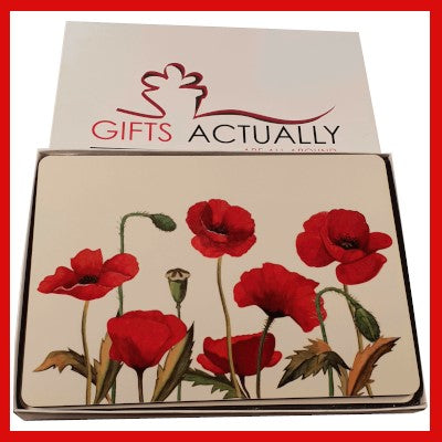 Gifts Actually - Placemat - Floral Collection - Poppy design