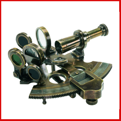 Gifts Actually - Bronze Pocket Sextant - Replica