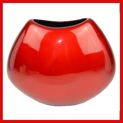 Gifts Actually - Lacquered Vase - Red Range (Round - Slim)