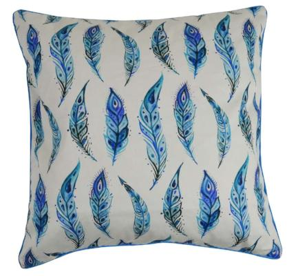 Gifts Actually - Rovan Cushion - Blue Feathers
