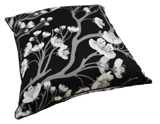 Gifts Actually - Rovan Cushion - Cherry Blossom B&W