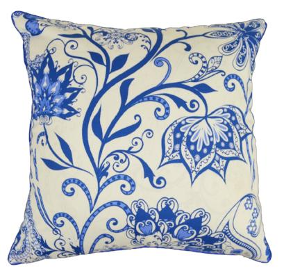 Gifts Actually - Rovan Cushion - Floral Blue