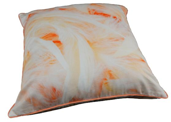 Gifts Actually - Rovan Cushion - Peach Feathers
