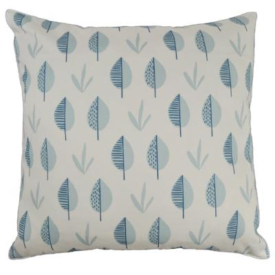 Gifts Actually - Rovan Cushion - Blue Leaves Abstract