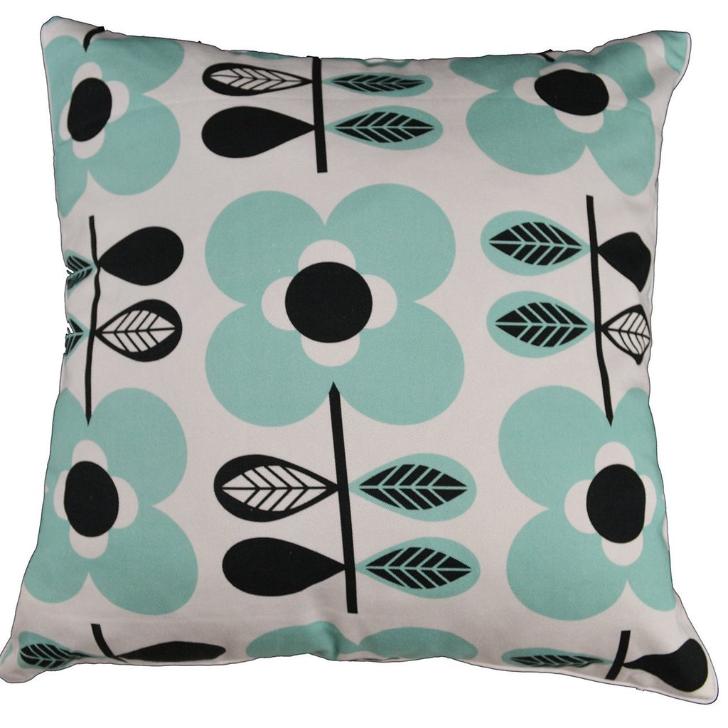 Gifts Actually - Rovan Cushion - Blue & Black Floral
