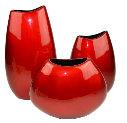 Gifts Actually - Lacquered Vase - Red Range - (Tall- Slim)