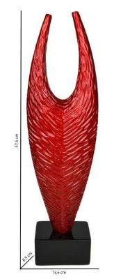 Gifts Actually - Lacquered - Abstract Sculpture  ( Red )