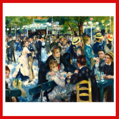 "Gifts Actually - Paint By Numbers - Renoir's ""Bal du moulin de la Galette"" (DIY Paint kit)"