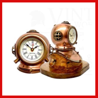 Gifts Actually - Table clock -  Diving' Helmet - Hand made